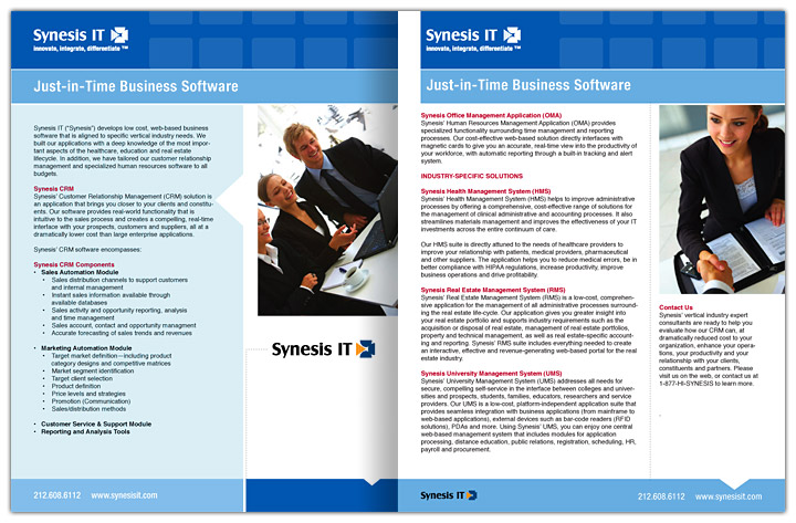 SynesisIT2_Brochures
